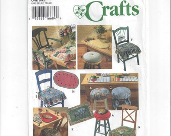 Simplicity 9452 Pattern for Chair Pads & Place Mats, From 1995, FACTORY FOLDED, UNCUT, Design Donna Lang, Simplicity Crafts, Vintage Pattern