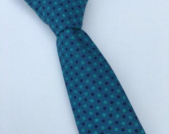 Boys Neck Tie, Turquoise Necktie, Infant Tie, Toddler Neck Tie, Blue Necktie