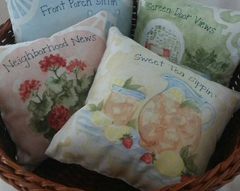 Pillow/Decorative/Little Girls/Room/Pin Cushion/Play House/Bowl Filler/Shabby Chic/Southern Charm/Rocking Chair/Floral