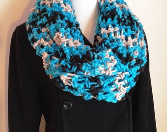 Carolina Panthers Scarf, Carolina Panthers, Panthers Team Scarf, Infinity Scarf, Panthers, Keep Pounding