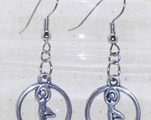Silver Silhouette Ballerina Earrings, Silver Charm Earrings, Charm Jewelry, Silhouette Ballerina Earrings, Silhouette Ballerina Jewelry