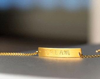 Personalized Bracelet Gold Bar Bracelet Layered Bracelet Custom Stamped Bridesmaid jewelry nameplate bracelet Smooth Bar Bracelet