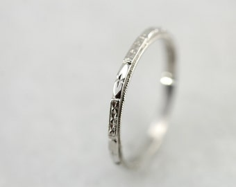Platinum Forget Me Not Wedding Band By Elizabeth Henry