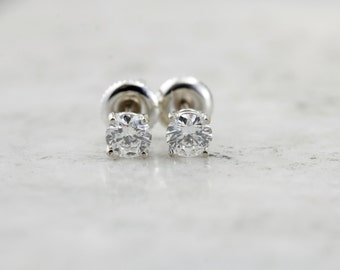 Bright and Sparkling, Vintage Diamond Screw Back Stud Earrings  5HJPFW-N