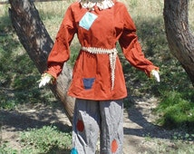Adult One Size Complete Scarecrow Costume!