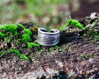 Rose Pattern Silverware Ring