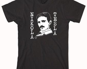 Nikola Tesla Shirt, best inventor ever, original geek, alternating current - ID: 667