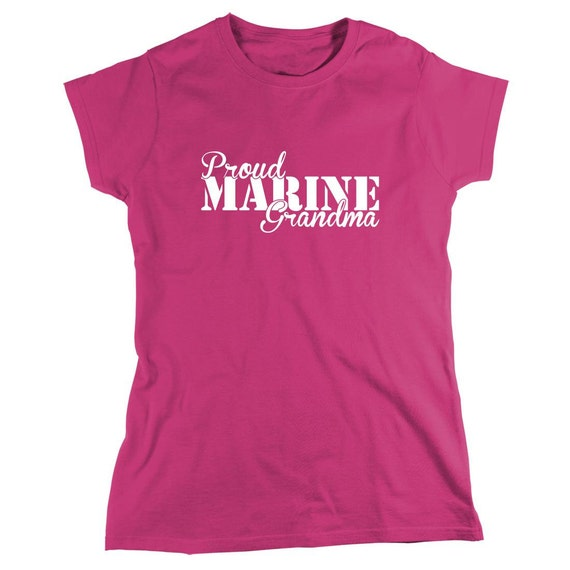 Proud Marine Grandma Shirt, soldier, navy, army, air force, marine, gift idea for grandmother - ID: 811