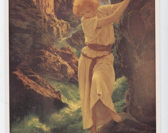 Maxfield Parrish, The Canyon, blank greeting card