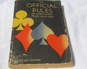 Official Rules of Card Games; Hoyle; Parlor games; family entertainment; turn off the electronics  1937