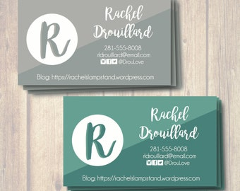 Initial Business Card Printable