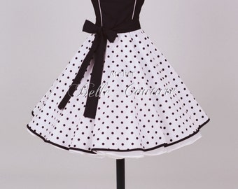 50s petticoat dress black/white item: 0104