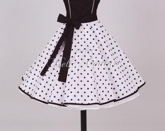 Custom Made & Handmade - 50s petticoat dress black/white item: 0104