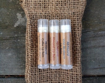 Lip Balm Three Pack with Burlap Pouch Green Cove Soap Company All Natural