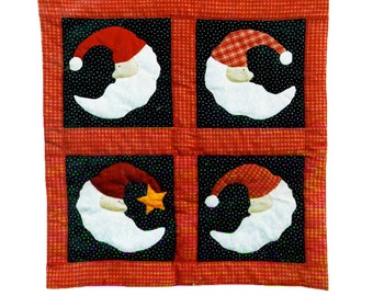 CHRISTMAS QUILT WALL HANGiNG Pattern Santa in the Moon Quilt Osage County Quilt Factory Santa Wall Hanging Holiday Craft Sewing Patterns