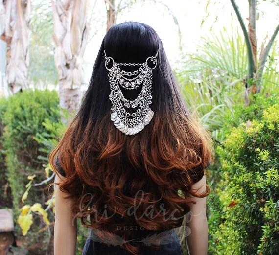 Bohemian Hair Gypsy Hair Chain Piece Goddess Huge Hair