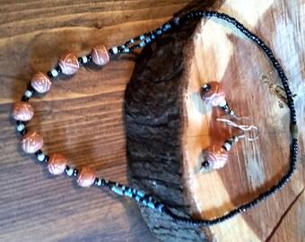 Aromatherapy terra cota necklace