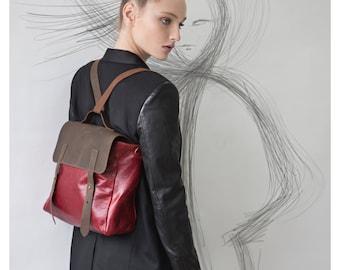 Leather Messenger bag, Backpack leather, Messenger bag woman, Leather satchel, Leather shoulder bag, Rucksack, Gift for her