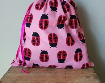 Library Book Bag - Ladybugs