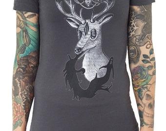 The Deeranged T Shirt- Asphalt