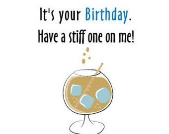 Pop Up Penis - Birthday Card - Adult Funny Card - Have A Stiff One On Me