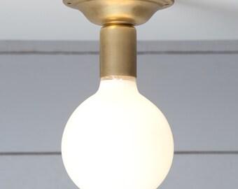 Brass Ceiling Light - Vintage Lamp