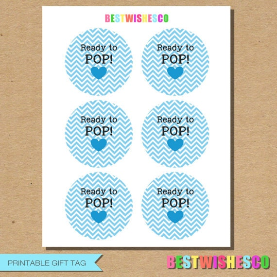 Ready to pop printable gift tags chevron stickers baby shower for Ready to pop tags
