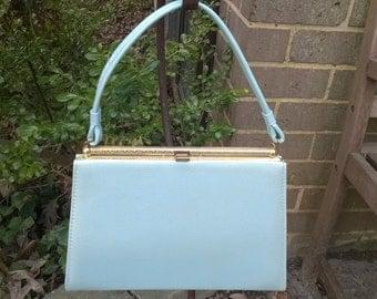 Purse Springtime Retro Robins Egg Blue Handbag