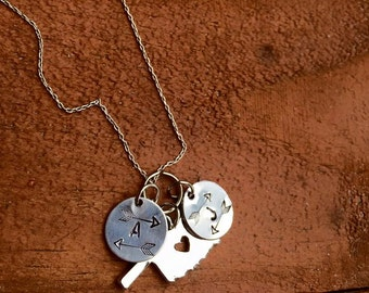 Personalized, hand-stamped jewelry