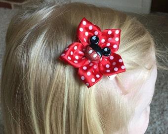 Mickey Mouse Hair Clip, Hair Bow, Girl's, Child's, Kanzashi