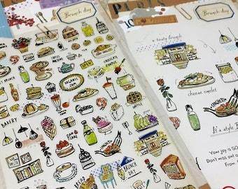 FOOD stickers Brunch lunch dinner food label yummy food tea Time cooking planner sticker food party cooking label recipes sticker gift