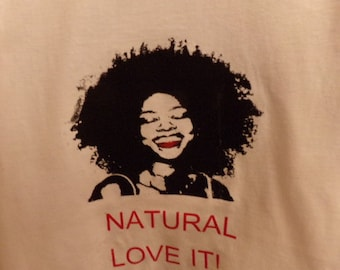 White T-Shirt for Natural Hair Lovers