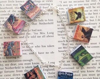 Handmade Harry Potter Book Charm Bracelet, J.K. Rowling Book Bracelet // The Sorcerer's Stone // The Cursed Child