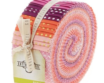 Cotton and Steel Berry Basics Pixie Strips Spindle Strips Jelly Roll 40 2.5 Inch Strips Fabric