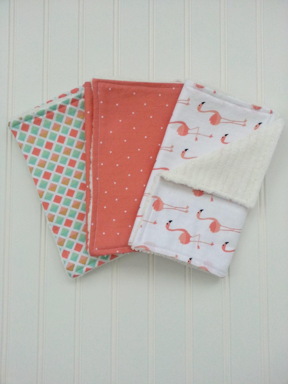 Burp Cloths Baby Girl Burp Cloth Set Set of 3 Burp
