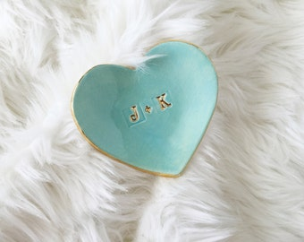 Personalized Heart Ring Dish - Initial Ring Dish - Personalized Gifts - Custom Ring Dish - Wedding Gifts - Personalized Ring Holder
