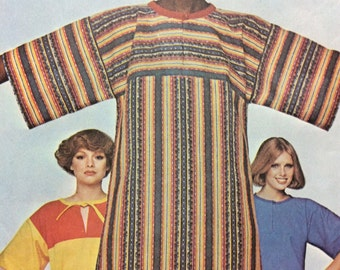 1970's Caftan Boho Hippie Dress or Top - Vintage McCall's Sewing Pattern 5171 **Cut/Size Medium (14-16)
