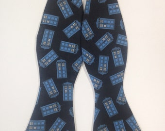 Flying Tardis Doctor Who Inspired Self Tie Freestyle Bow Tie