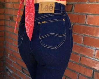 High Waisted Lee Jeans 25 Waist Skinny Stretch Mom Jeans