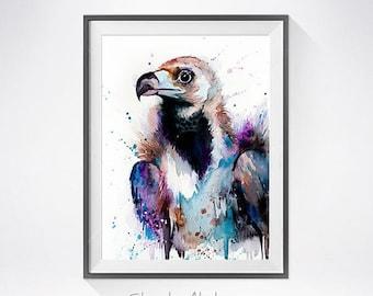 Original Watercolour Painting- Vulture art, animal, illustration, animal watercolor, animals paintings, animals, portrait,