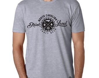 Craft Beer Shirt- Drink Local North Carolina t-shirt