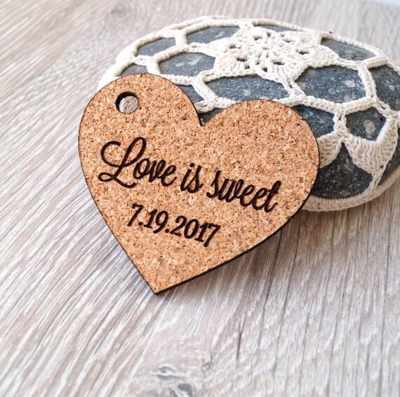 Wedding Favor Tags Uk : is sweet wedding favor tags, wedding favors, cork heart tags, wedding ...