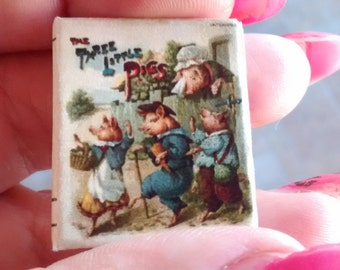 Dolls House 12th Scale  The Three Little Pigs. Downloadable miniature book.