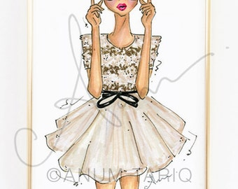 Fashion Illustration Print, Jason Wu, 8x10""
