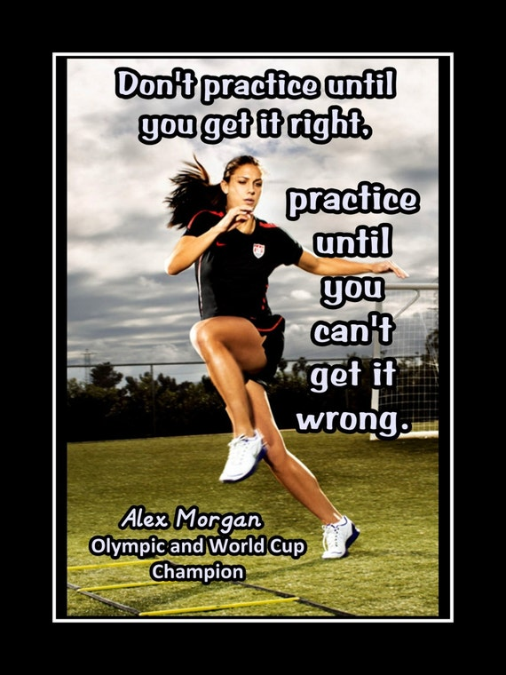 Alex morgan girls soccer practice motivation poster coaching like this item voltagebd Image collections
