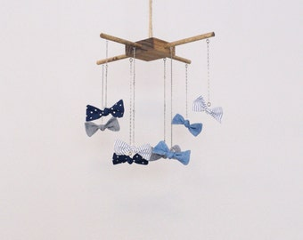 baby bow tie mobile, baby mobile boy, baby bowtie crib mobile