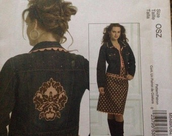 Mccalls M5489 Yolked Skirt Applique for Purchased Jacket