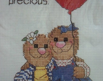 Counted Cross Stitch Kit ~ Friends Are Precious Picture ~ Suzy's Zoo ~ Unopened ~ Frame Included
