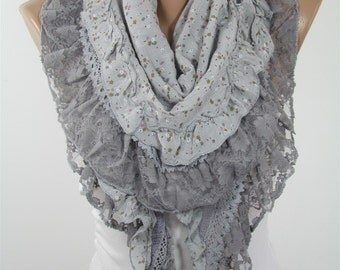 Floral Cotton Scarf Shawl Lace Scarf Spring Fashion Scarf Women Fashion Accessories Summer Scarf Mothers Day Gifts For Mom For Grandma