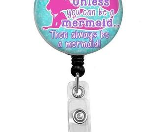 Retractable Badge Reel - Mermaid ID Badge - Badge Reels - Mermaid Badge Reel - Pediatric Nurse Badge Reel - Dental Hygeniest Badge Reel